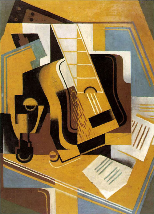 The Guitar by Jaun Gris