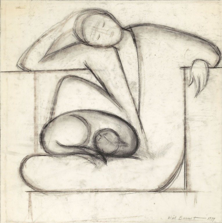 Woman and Cat 1979 - Will Barnet
