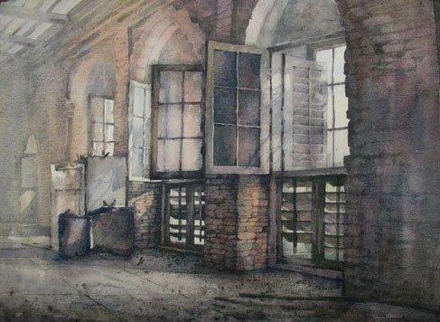 Broken Windows - Watercolor by Ariful Islam