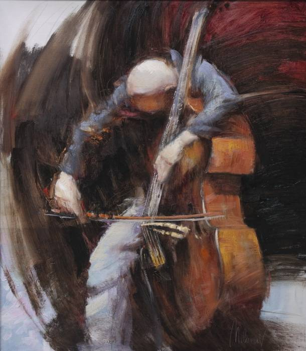 Bass Player by Stojan Milanov