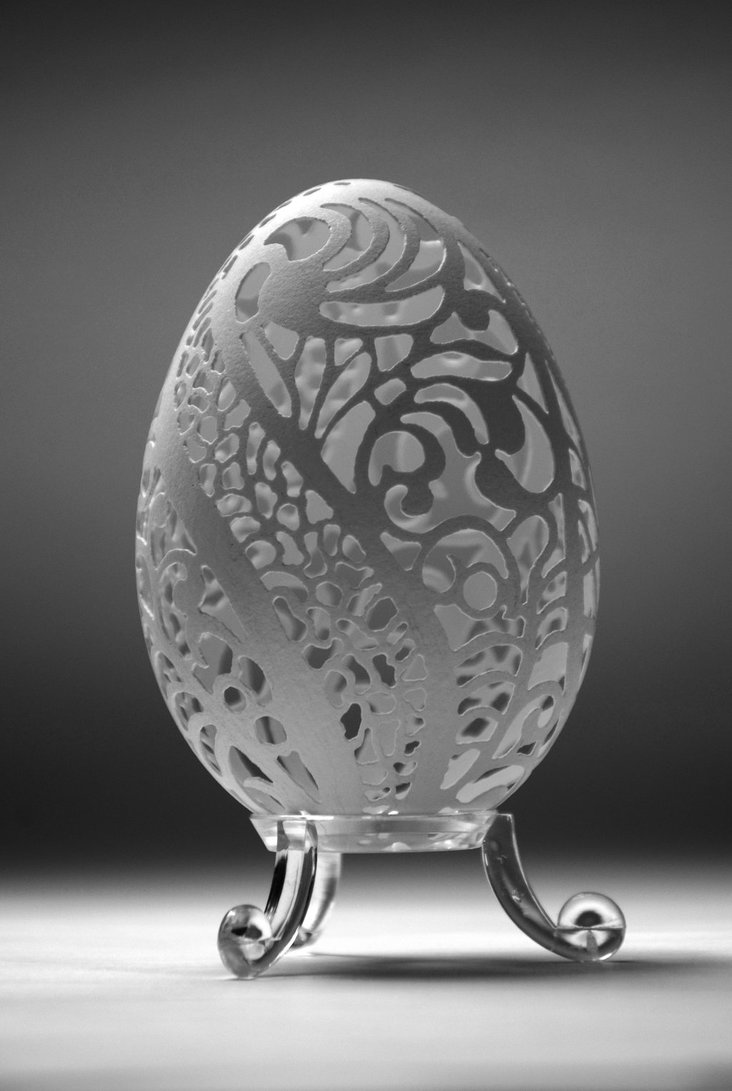 Carved Goose Eggshell