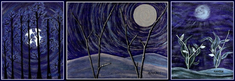 Nocturnal blue in the glow of the moon