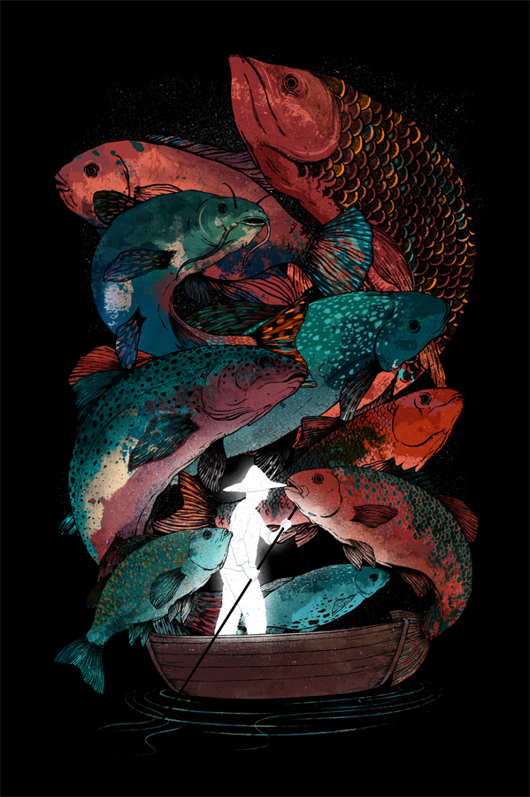 The Fishing Trip - Illustration by Gelrev Ongbico