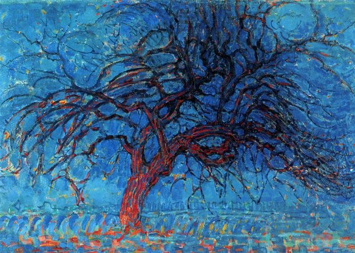 Avond (Evening): The Red Tree - by Piet Mondrian 1910