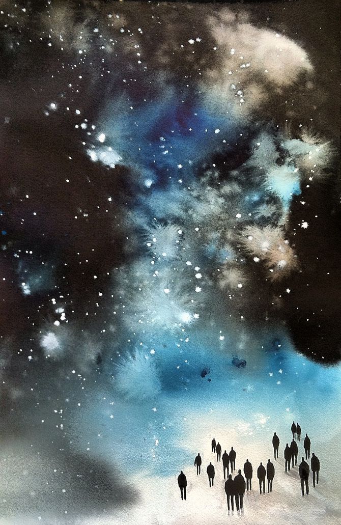 Into the Starry Night by Michelle Blade