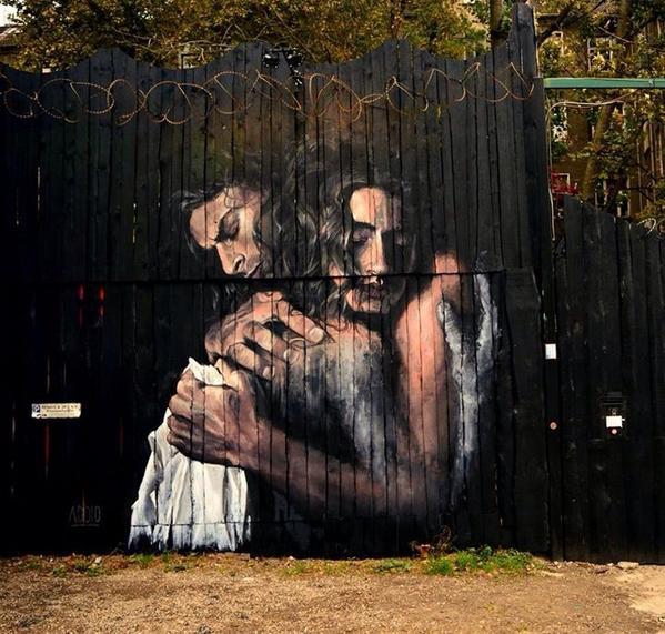 Street Art by Luis Gomez de Teran in Berlin, Germany