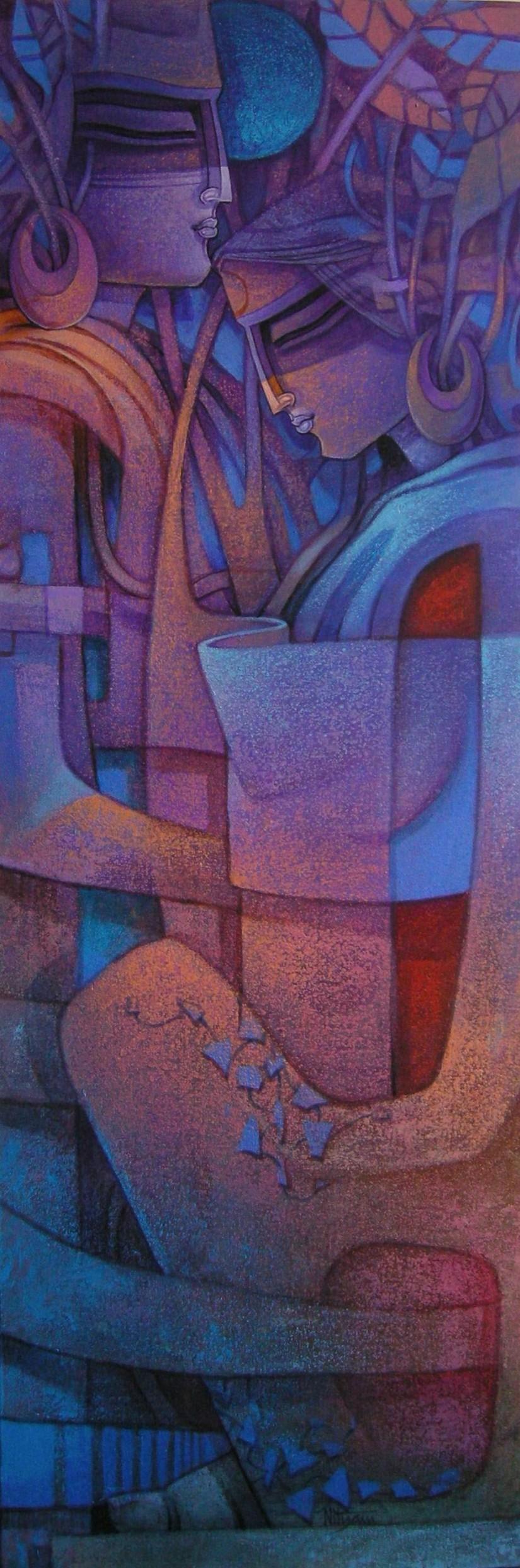 Untitled Painting by Nityam Singha Roy