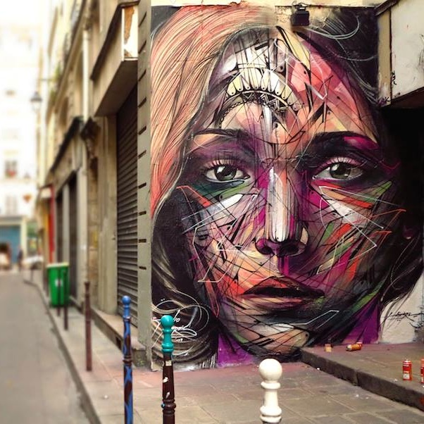 Streetart by Hopare in Paris France