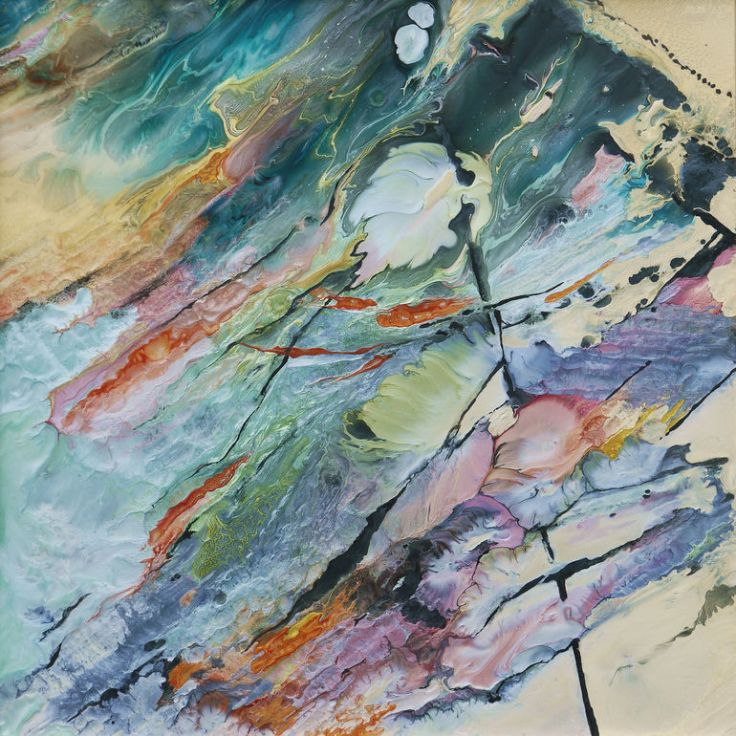 True Colours - Powdered Pigments and Solvents on Aluminium by Lia Melia