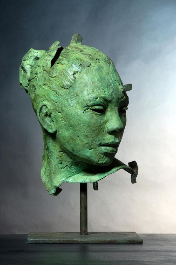 Divert Head Bronze by Lionel Smit