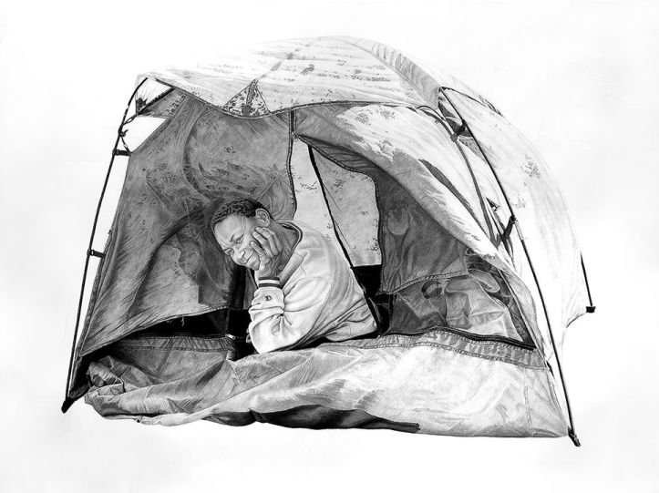 Sam in a Tent