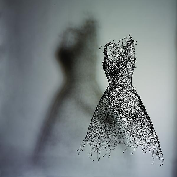 Wire and Bead Sculpture by KeySook Geum