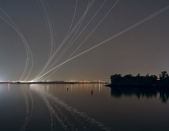 Nachtflüge Series - Plane Takeoffs from Laguardia Runway 13 by Kevin Cooley