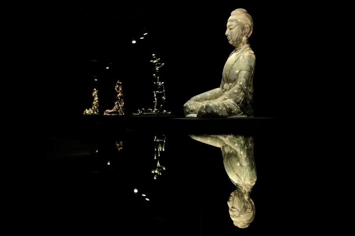 Shi-Zhongying-Buddha-Icon-Series-2013-Stainless-steel-each-95x72x65cm1