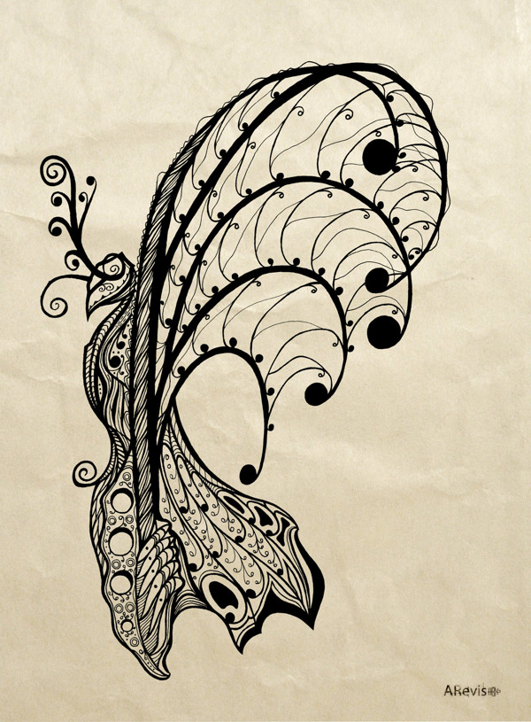 Paper Chaos (butterfly) by Vladimire Sopronkin