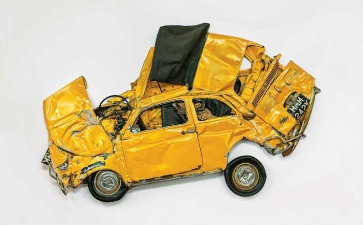 Flattened Fiat - Sculpture by Ron Arad