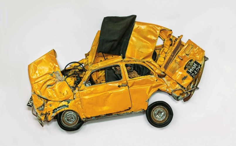 Flattened Fiat - Sculpture by Ron Arad