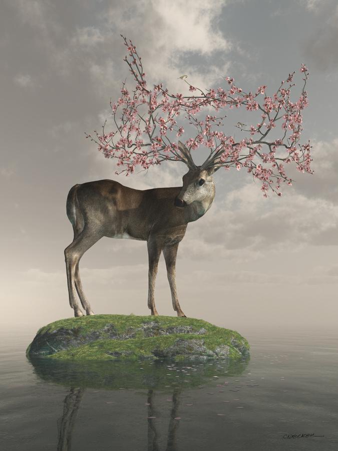 Guardian - Digital Art by Cynthia Decker (Curious3D)