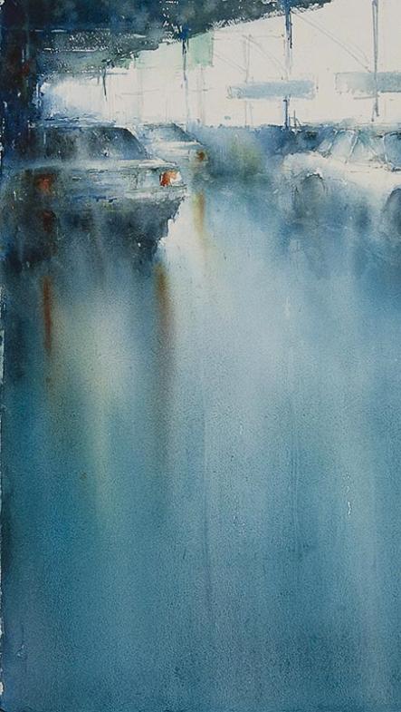 Watercolor by Janine Gallizia