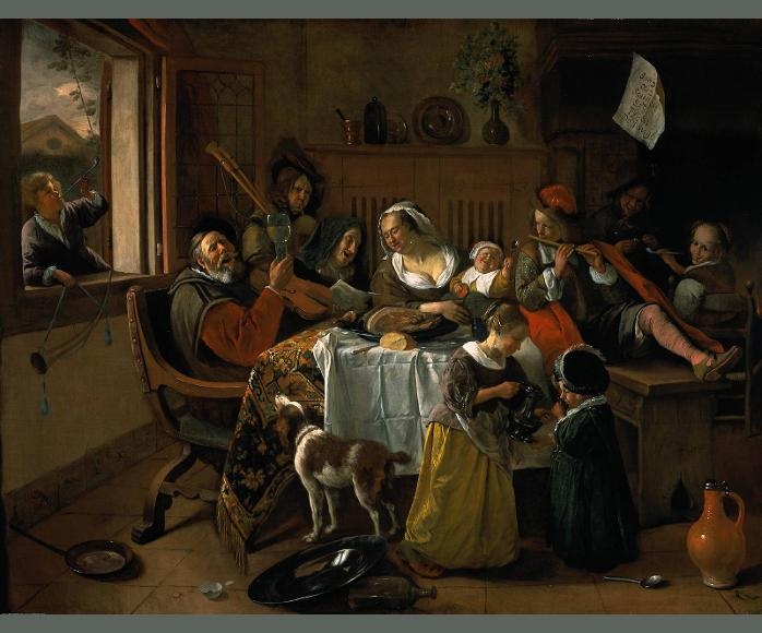 The Merry Family Jan Steen1668