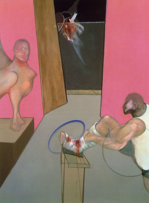 Oedipus and the Sphinx After Ingres (1983) by Francis Bacon
