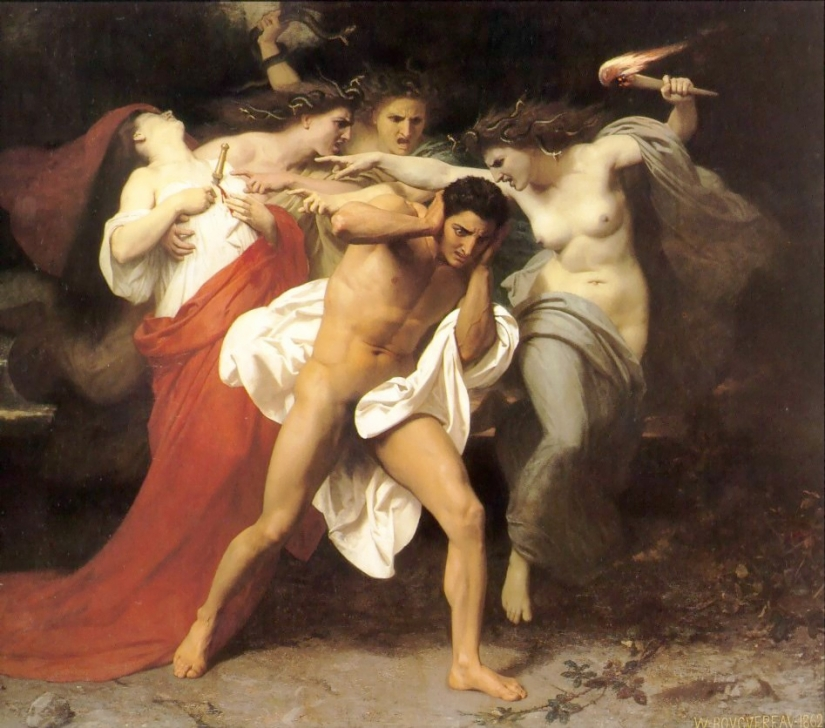 Orestes Pursued by the Furies (1862) - William-Adolphe Bouguereau