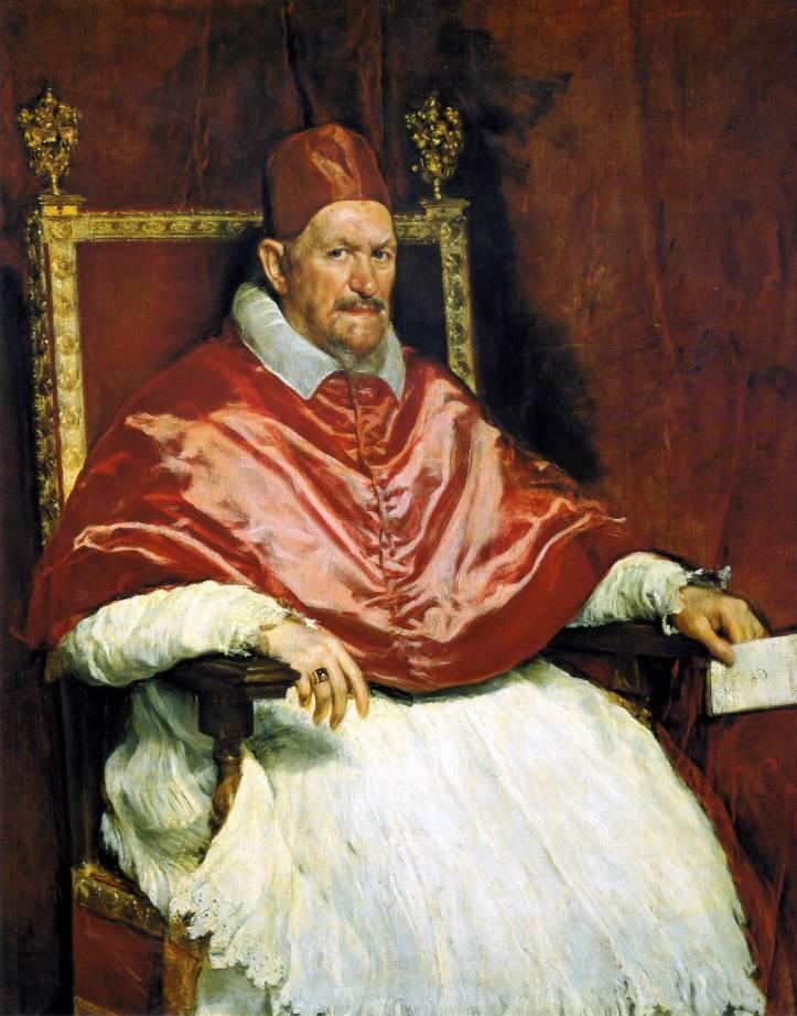 Portrait of Pope Innocent X, 1650 Diego Velázquez