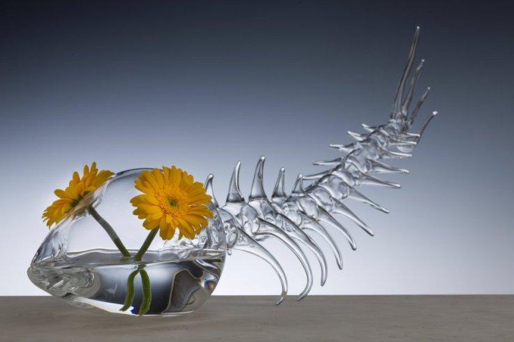 Glass art by Simone Crestani