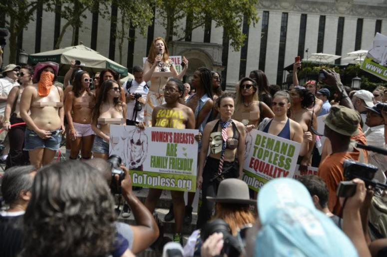 Annual Topless Parade/Protest in NY city.  Photo Credit Todd Maisel/New York Daily News