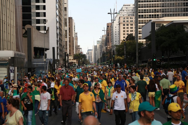 Protesters in Brazil against President Rousseff Photo Credit: Euronews