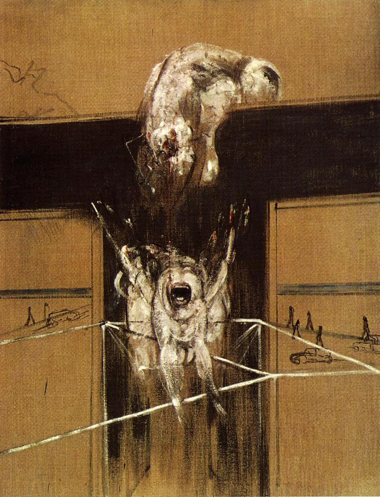 Fragment of a Crucifixion by Francis Bacon