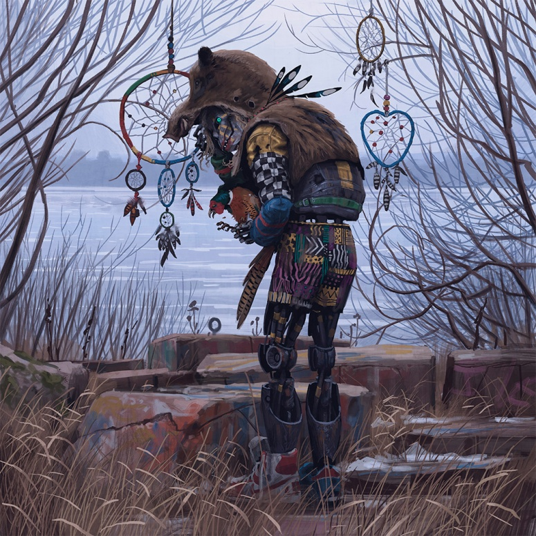 Vagrant with Pheasant - Simon Stalenhag