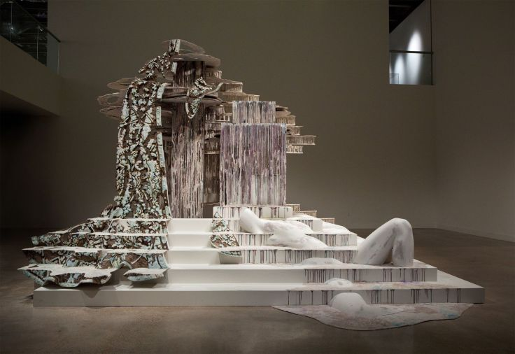 Suspended After Image - Sculpture by Diana Al-Hadid