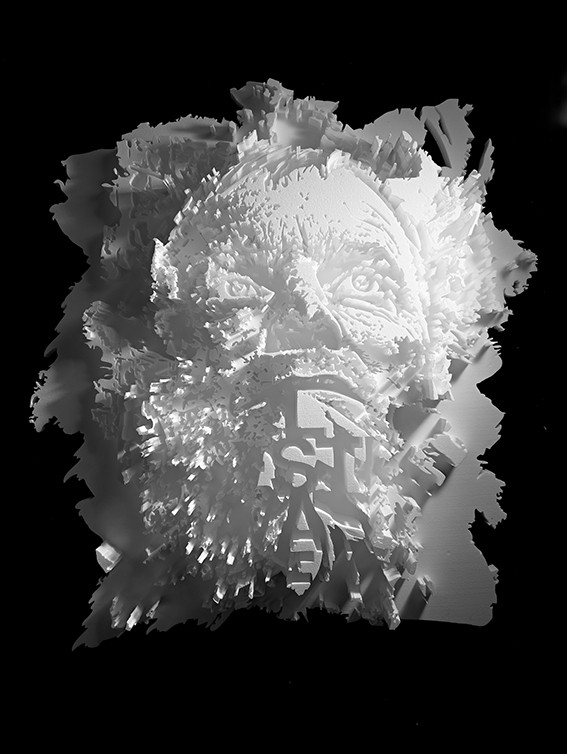 Sculpture in Styrofoam by Alexandre Farto AKA Vihls