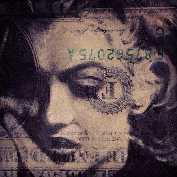 Portrait on Dollar Bill by Ashis Patel