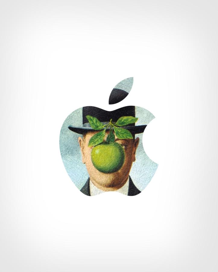 Apple + The Son of Man by René Magritte by Eisen Bernard Bernardo