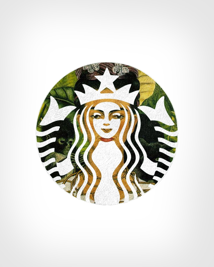 Starbucks + Self-portrait with Thorn Necklace and Hummingbird by Frida Kahlo
