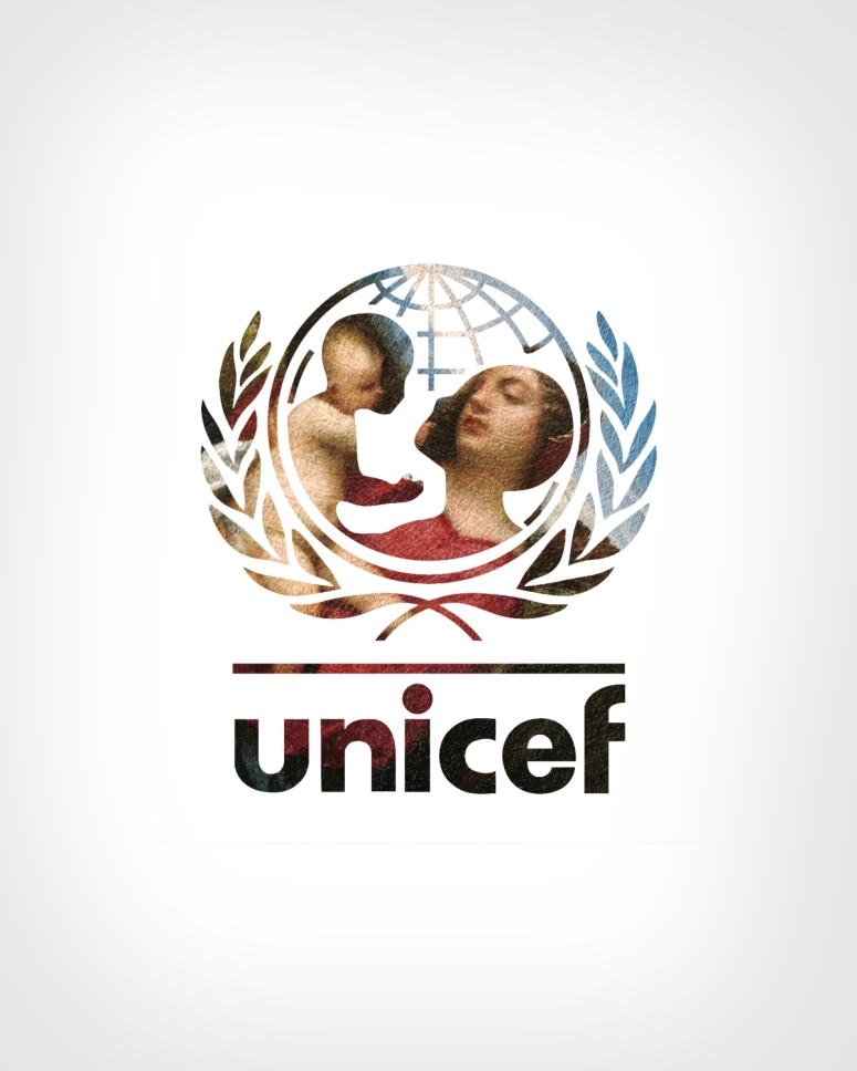 UNICEF + Madonna and Child in a landscape by Titian