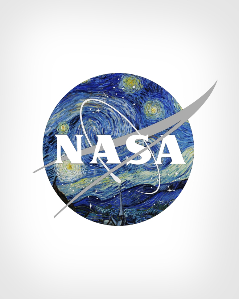 NASA Logo + The Starry Night by Vincent Van Gogh