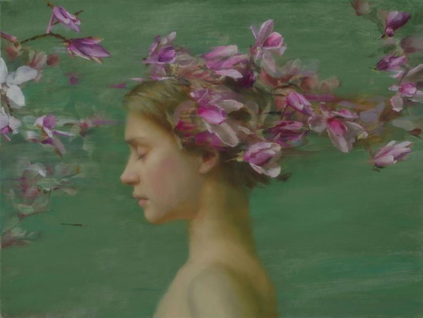 Beautiful Contemporary Art:  Magnolia Stroll - Michael Van Zeyl