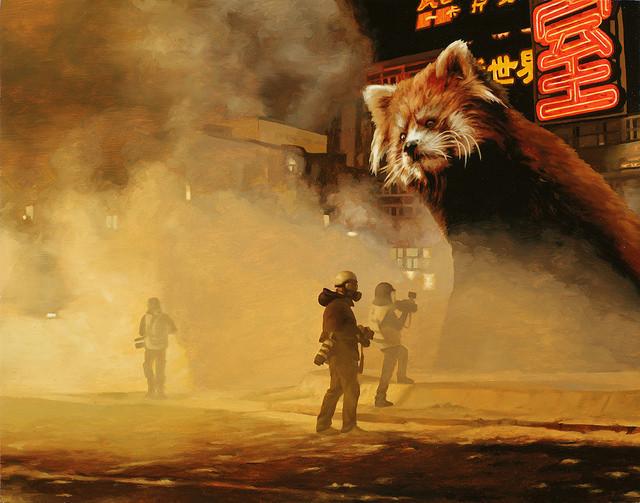 """Caleb Brown - """"Red Panda City 1"""""""