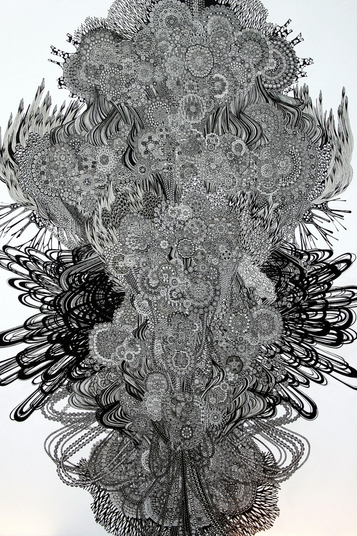 姚姚 - Pen and Ink drawing by Yoshito Ishii:イシイヨシト