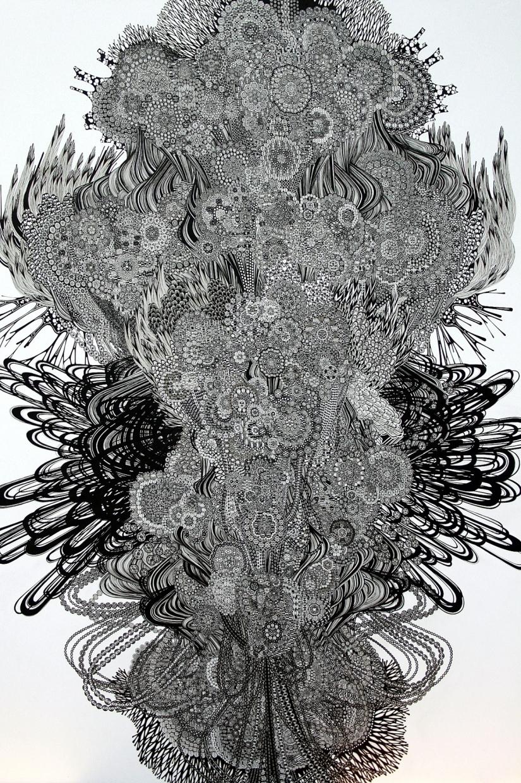 姚姚 - Pen and Ink drawing by Yoshito Ishii:イシイヨシト