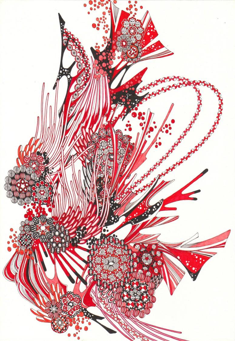 畚(HuGo) - Pen and Ink Drawing by Yoshito Ishii:イシイヨシト