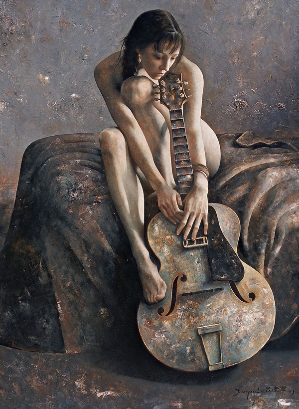 Untitled painting by Li JianJun
