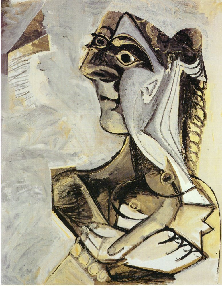 Woman with braid (1971) - Pablo Picasso