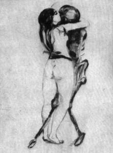 Girl and Death (1894) Edvard Munch