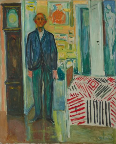 Between the Clock and the Bed Edvard Munch