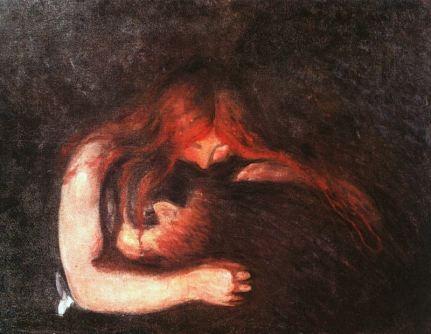 Vampire (1895) Edvard Munch