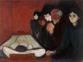 By the Deathbed (Fever) Edvard Munch · 1893